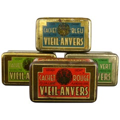 Set of 4 Tobacco Boxes Antwerp, Belgium, 1950s