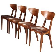 Set of 4 'Tractor Chairs by Kjaerulf Rasmussen and Richard Jensen