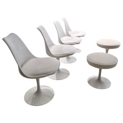 Set of 4 Tulip Chairs and 2 Tulip Chairs by Eero Saarinen for Knoll