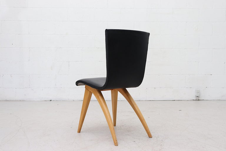 Set of 4 Van Os Black Dining Chairs In Good Condition For Sale In Los Angeles, CA