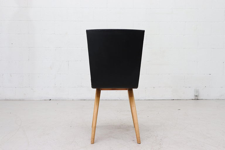 Mid-20th Century Set of 4 Van Os Black Dining Chairs For Sale