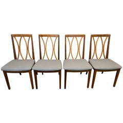 Set of 4 Vintage 1980s Afromosia Teak Dining Chairs by E Gomme for G Plan