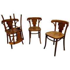 Set of 4 Vintage Bistro Chairs by Luterma, 1920s