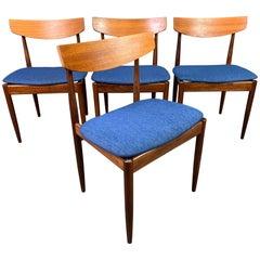 Set of 4 Vintage British Midcentury Teak Dining Chairs by Kofod Larsen & G Plan
