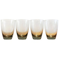 Set of 4 Vintage Danish Holmegaard Copenhagen Tumbler Glasses by Per Lutken