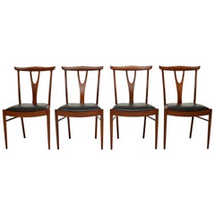 Set of 4 Vintage Dining Chairs in Afromosia