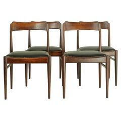 Set of 4 Vintage Dining Chairs in Rosewood