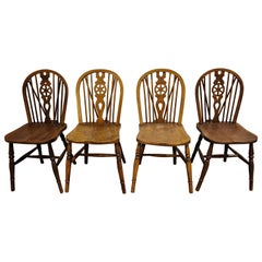 Set of 4 Vintage Ercol Dining Chairs, 1950s