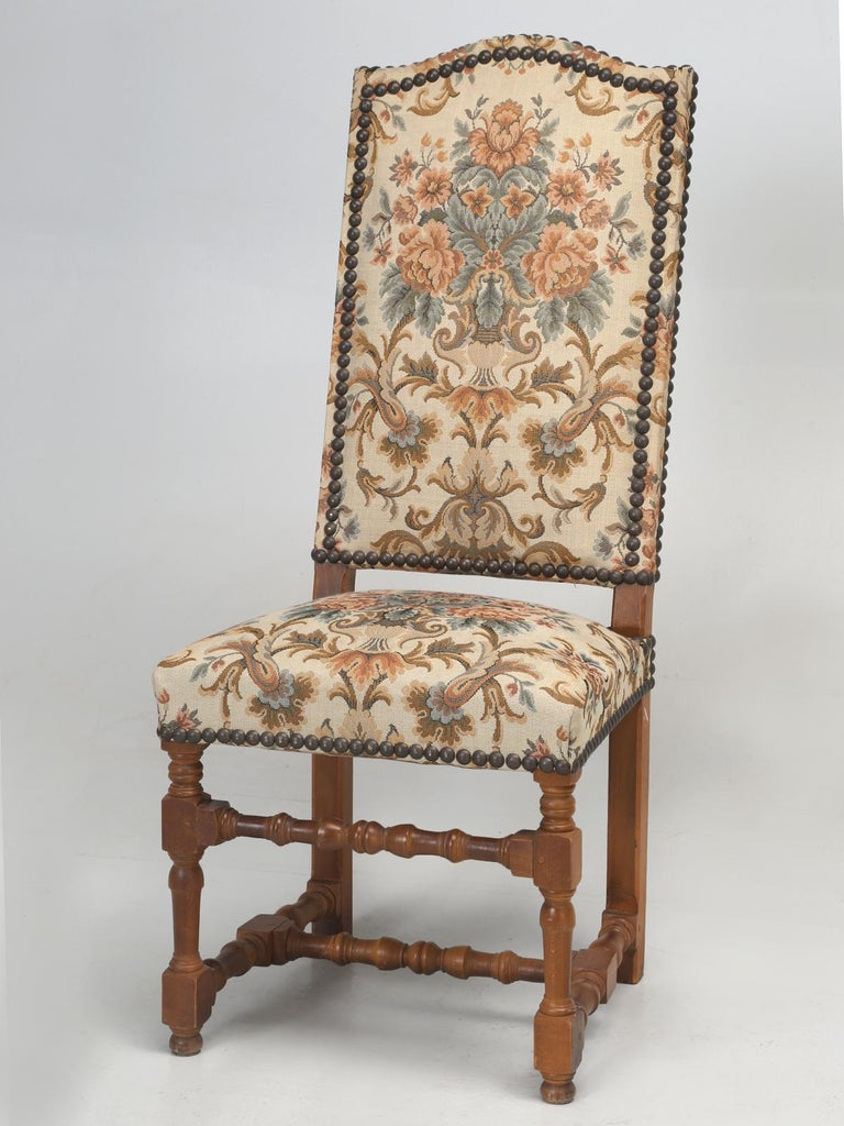 Set of '4' Vintage French Dining Chairs For Sale 5
