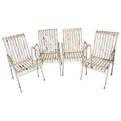 Set of 4 Vintage Garden Chairs