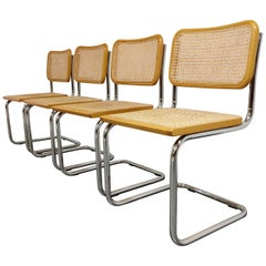 Set of 4 Vintage Marcel Breuer Cesca Chairs, Made in Italy, 1970s