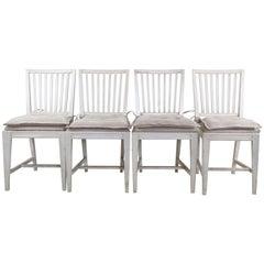 Set of 4 Vintage Swedish Side Chairs