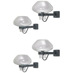 Set of 4 Wall Lamps designed by Gunnar Asplund for ASEA, 1950s