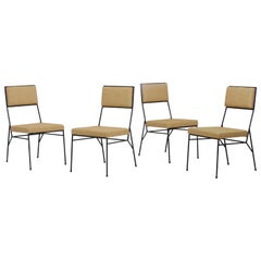 Set of 4 Wrought Iron Chairs by Paul McCobb for Arbuck, 1950s, US