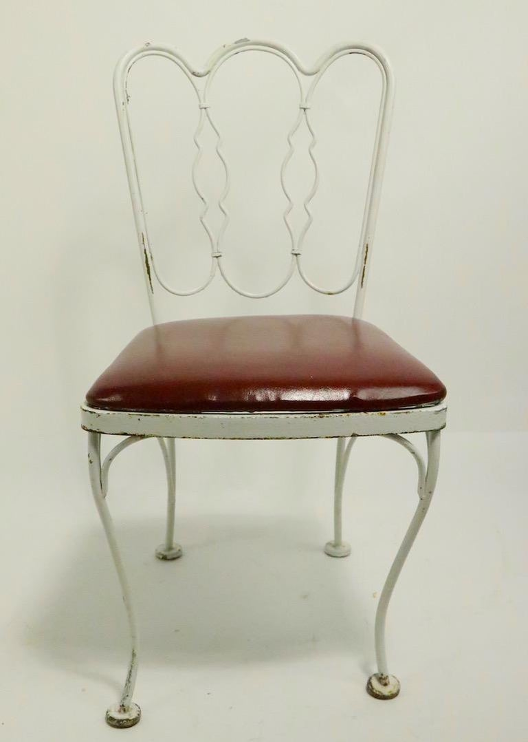 20th Century Set of 4 Wrought Iron Dining Chairs by Lee Woodard For Sale