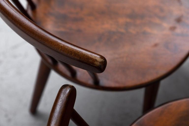 Set of 4 Yngve Ekstrom for Nesto V9 Spindle Back Chairs For Sale 3