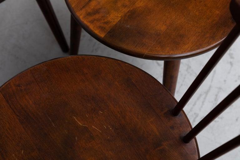 Set of 4 Yngve Ekstrom for Nesto V9 Spindle Back Chairs For Sale 5