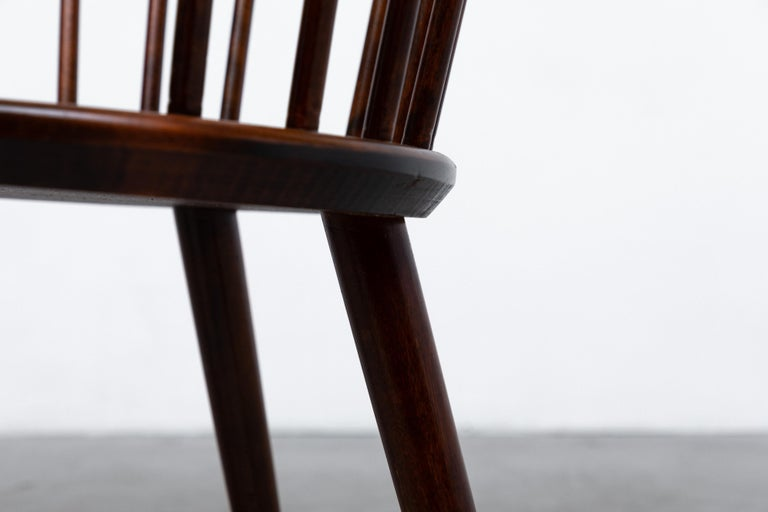 Set of 4 Yngve Ekstrom for Nesto V9 Spindle Back Chairs For Sale 7