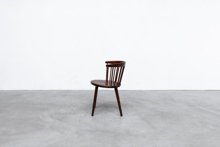 Swedish Set of 4 Yngve Ekstrom for Nesto V9 Spindle Back Chairs For Sale