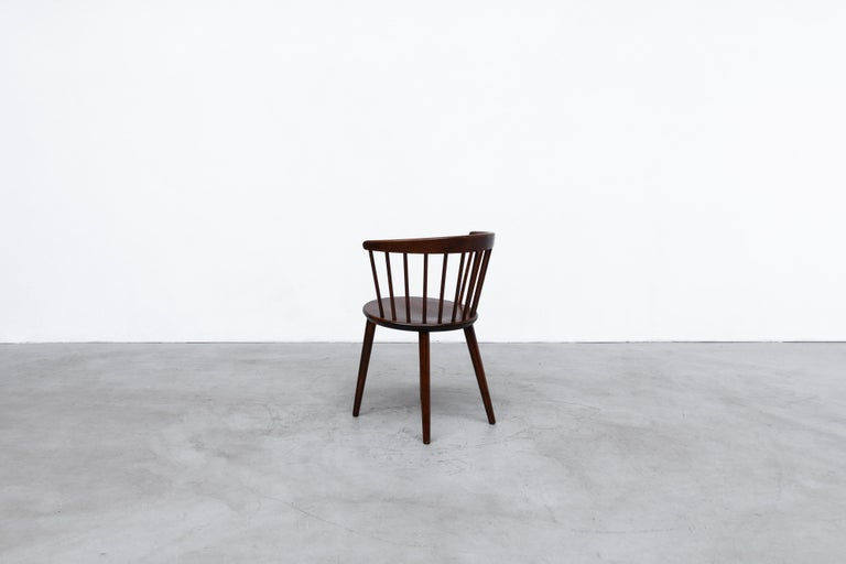 Set of 4 Yngve Ekstrom for Nesto V9 Spindle Back Chairs In Good Condition For Sale In Los Angeles, CA