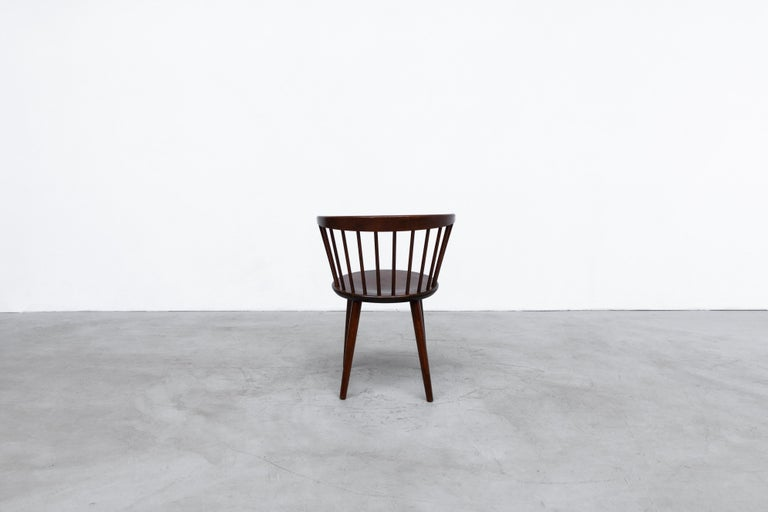 Mid-20th Century Set of 4 Yngve Ekstrom for Nesto V9 Spindle Back Chairs For Sale