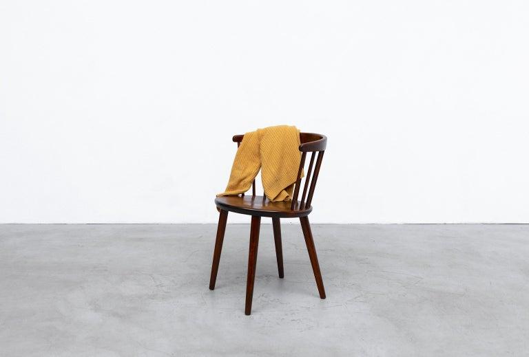 Wood Set of 4 Yngve Ekstrom for Nesto V9 Spindle Back Chairs For Sale