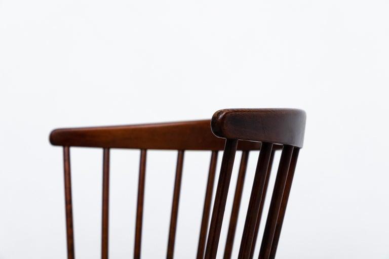 Set of 4 Yngve Ekstrom for Nesto V9 Spindle Back Chairs For Sale 1