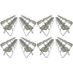 Set of 48 Green Lucite Plia Chairs by Giancarlo Piretti for Castelli, 1970s