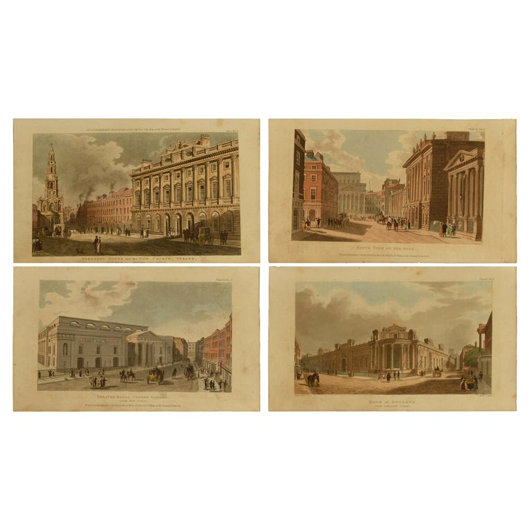 Antique Architectural Prints Of London