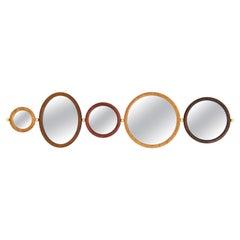 Set of 5 Aro Mirrors, Leandro Garcia, Contemporary Brazil Design