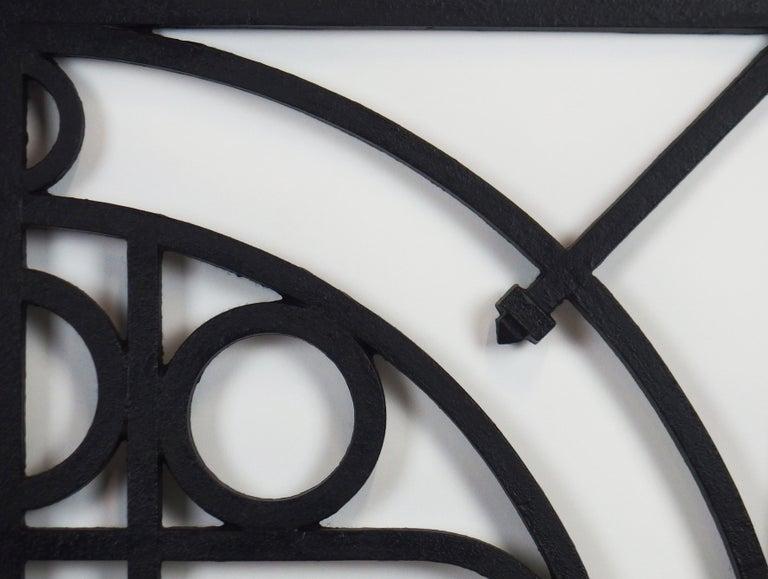 5 Art Deco Cast Iron Fences For Sale 5