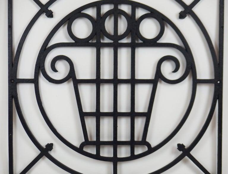 5 Art Deco Cast Iron Fences For Sale 6