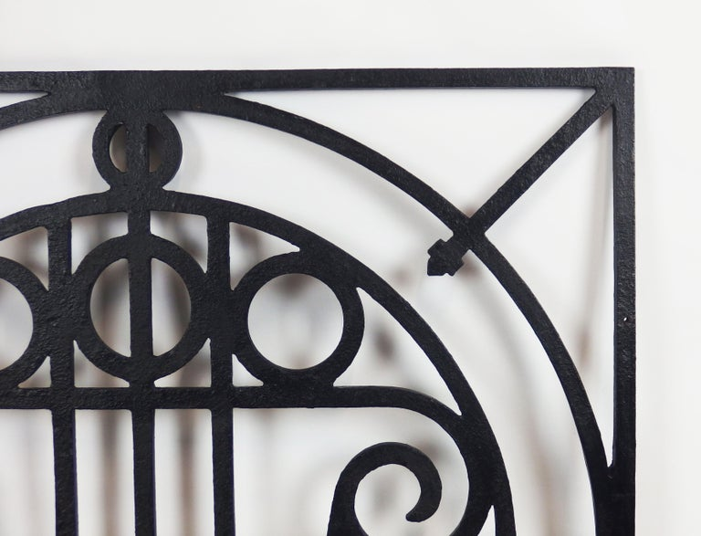 5 Art Deco Cast Iron Fences For Sale 7
