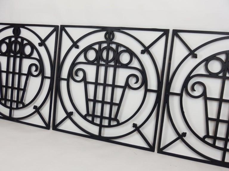 5 Art Deco Cast Iron Fences For Sale 8