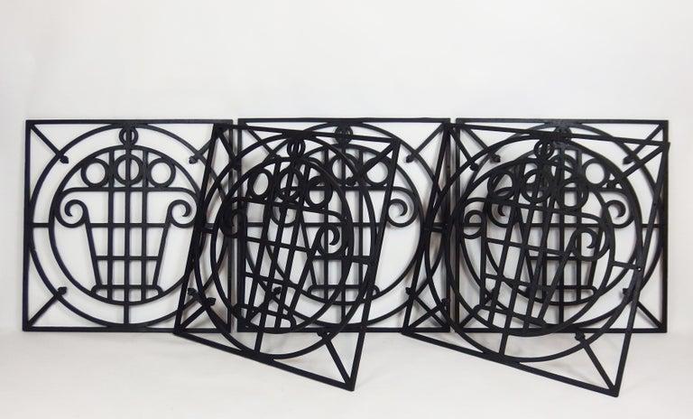 5 Art Deco Cast Iron Fences For Sale 1