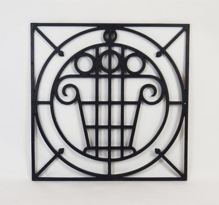 French 5 Art Deco Cast Iron Fences For Sale