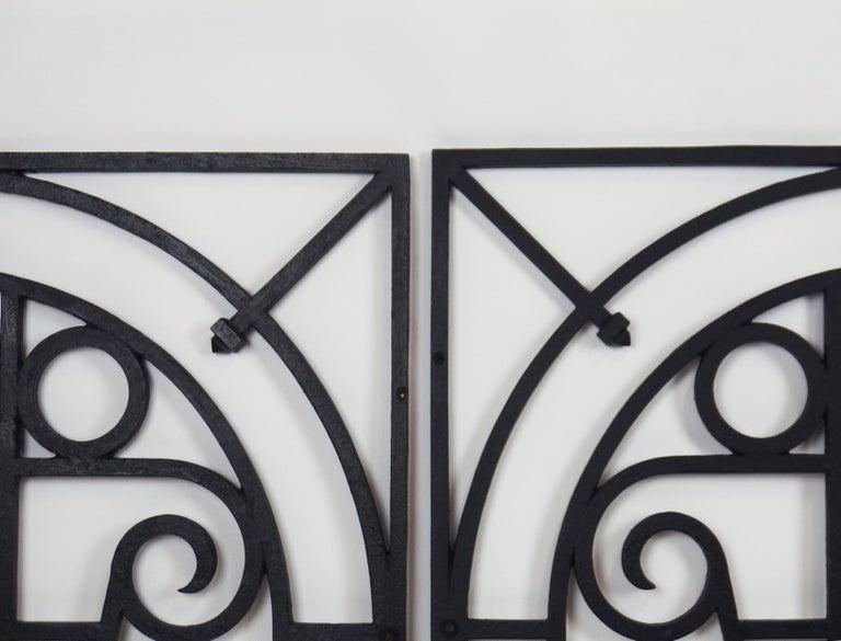 5 Art Deco Cast Iron Fences For Sale 3
