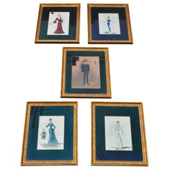 Set of 5 Artistic Sketches for Movies