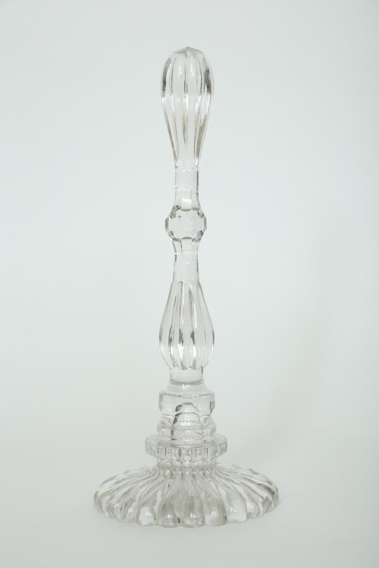 French A Collection of Five Cut Crystal Columns by  Baccarat Crystal For Sale