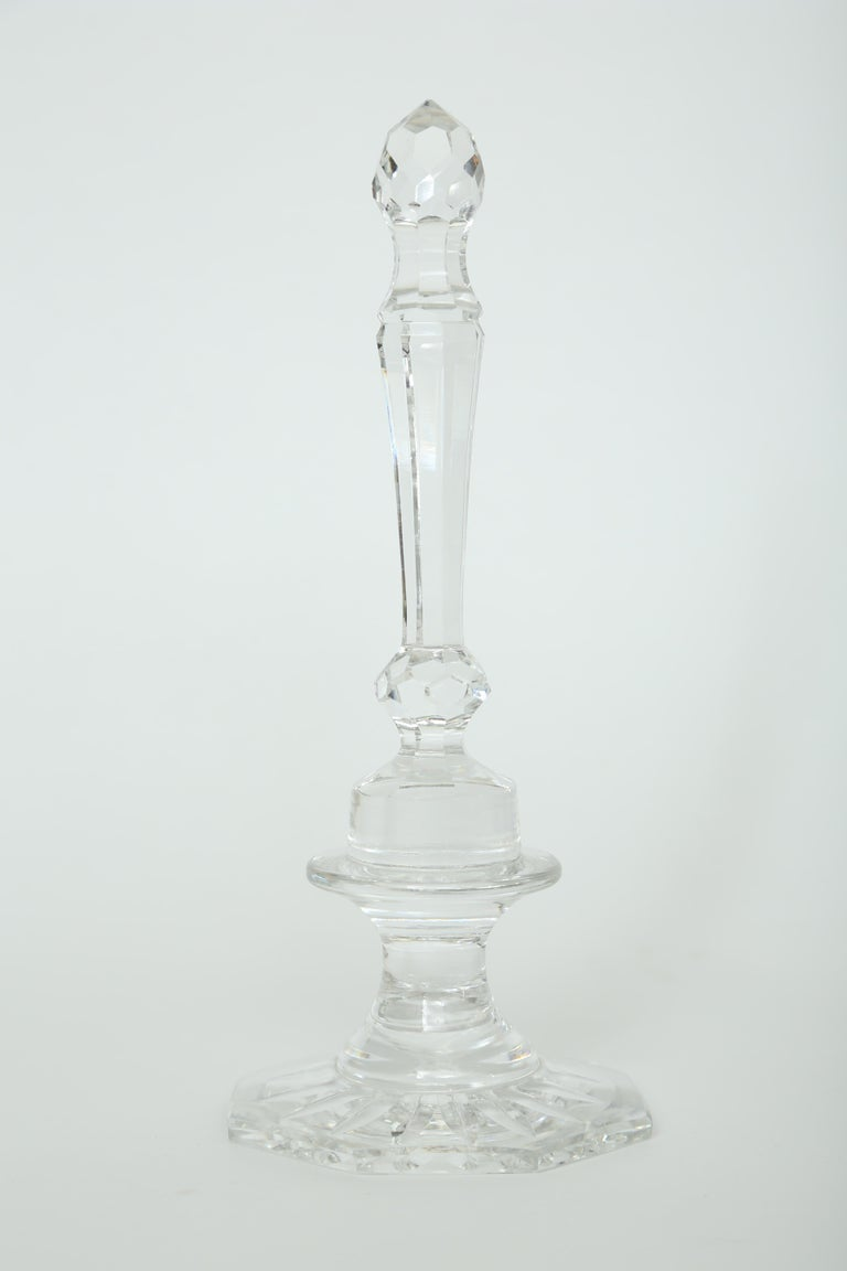 Cut Glass A Collection of Five Cut Crystal Columns by  Baccarat Crystal For Sale