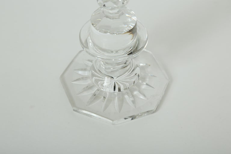 A Collection of Five Cut Crystal Columns by  Baccarat Crystal For Sale 1