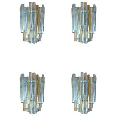 Set of 5 Carlo Scarpa Wall Lamps for Venini, Italian Design, 1960s