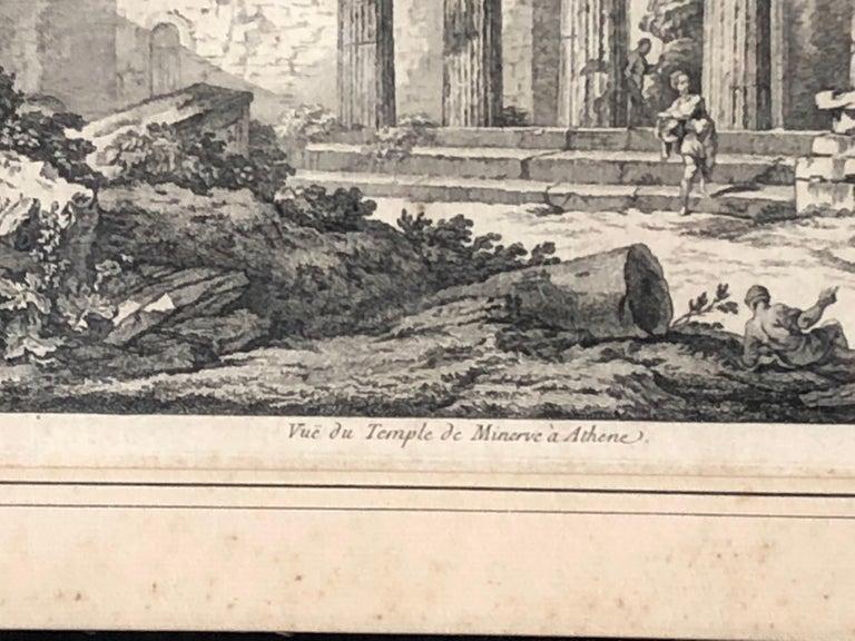 Set of 5 Engravings, 'Les Ruines De Grece' 1758, by Julien Le Roy For Sale 2