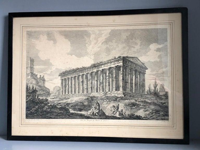 Set of 5 Engravings, 'Les Ruines De Grece' 1758, by Julien Le Roy For Sale 3