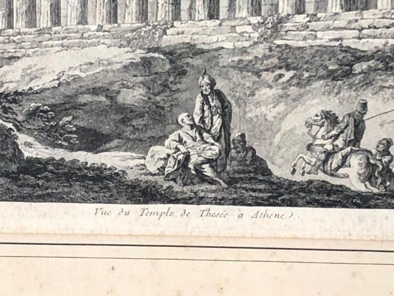 Set of 5 Engravings, 'Les Ruines De Grece' 1758, by Julien Le Roy For Sale 4