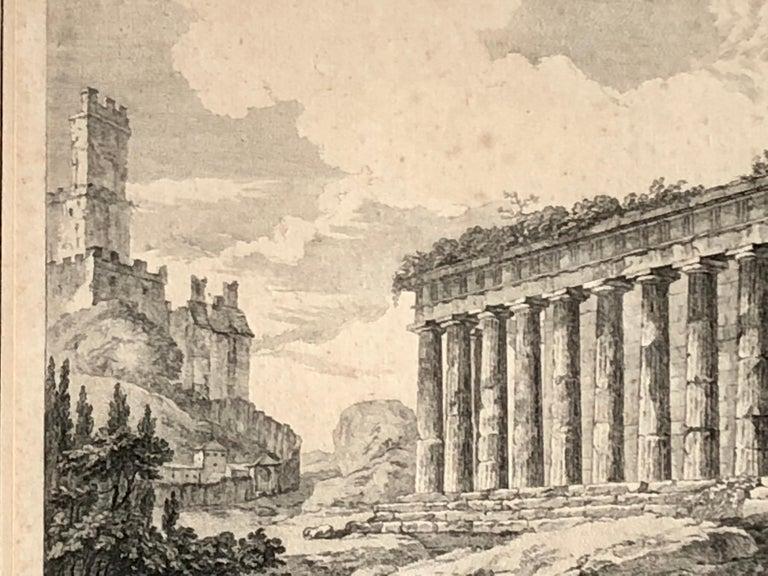 Set of 5 Engravings, 'Les Ruines De Grece' 1758, by Julien Le Roy For Sale 5