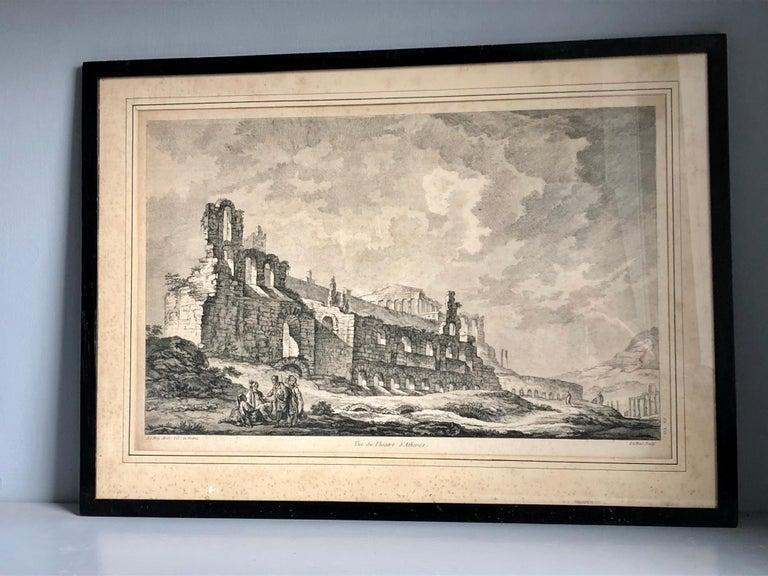 Set of 5 Engravings, 'Les Ruines De Grece' 1758, by Julien Le Roy For Sale 7