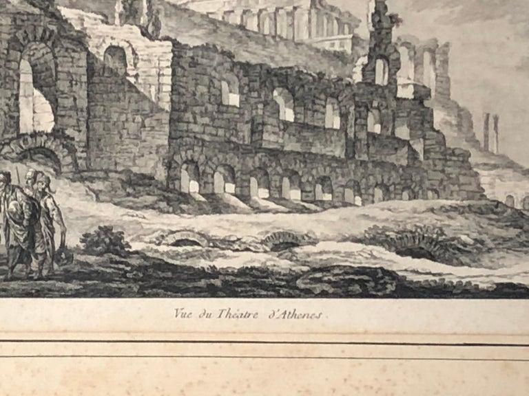 Set of 5 Engravings, 'Les Ruines De Grece' 1758, by Julien Le Roy For Sale 8