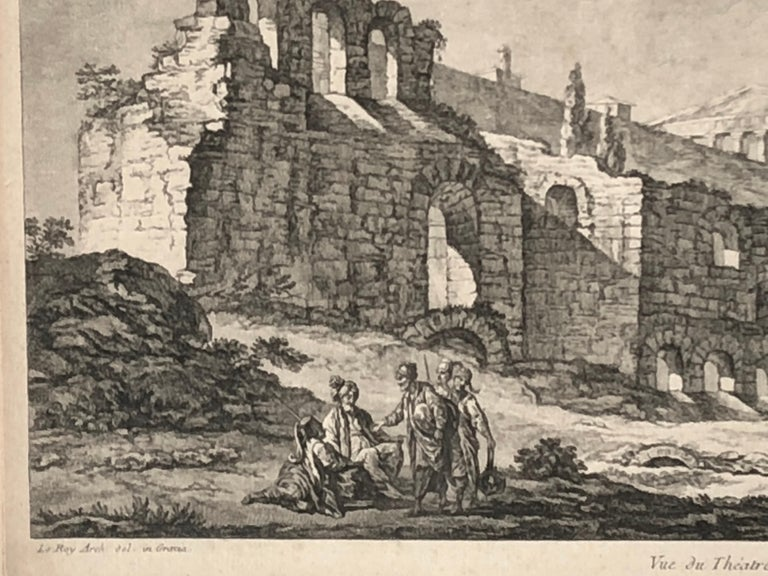 Set of 5 Engravings, 'Les Ruines De Grece' 1758, by Julien Le Roy For Sale 10