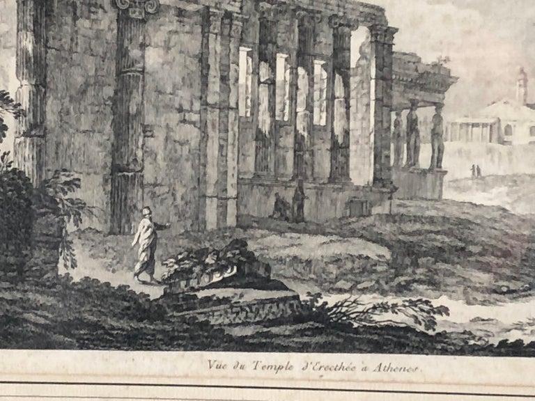 Neoclassical Set of 5 Engravings, 'Les Ruines De Grece' 1758, by Julien Le Roy For Sale